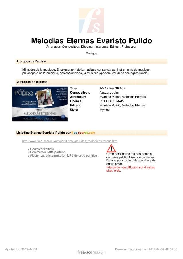 Melodias Eternas Evaristo Pulido Arrangeur, Compositeur, Directeur, Interprete, Editeur, Professeur Mexique A propos de l'...