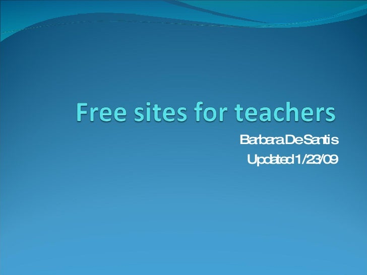 Free Sites For Teachers Update