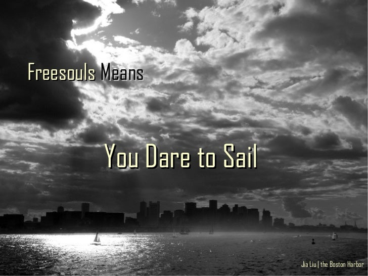 Freesouls Means            You Dare to Sail                               Jia Liu | the Boston Harbor