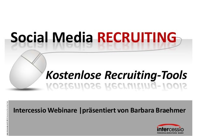 Social Media RECRUITING                                                                     Kostenlose Recruiting-Toolswww...