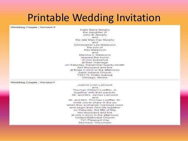 wedding invitation - Wedding Invitation Software