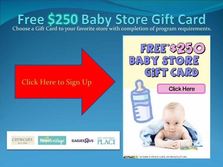 Choose a Gift Card to your favorite store with completion of program requirements. Click Here to Sign Up