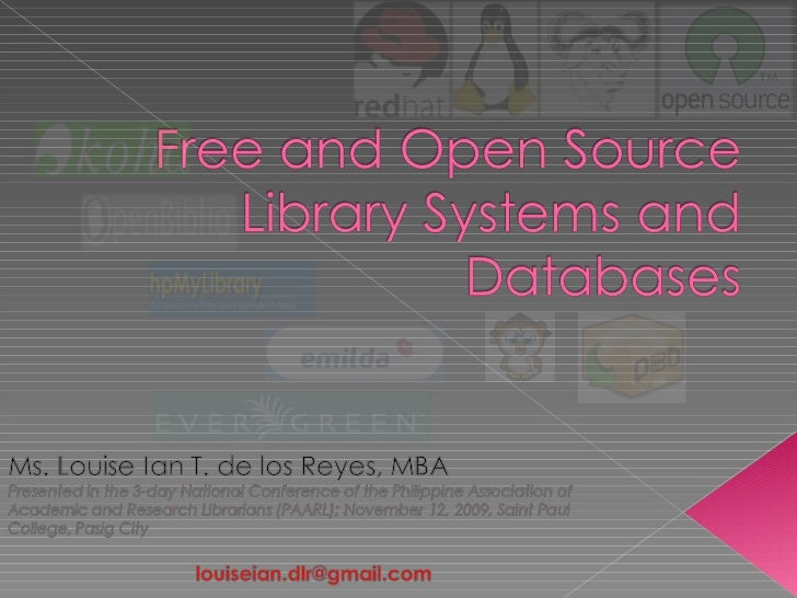 Free and Open Source Library Systems and Databases