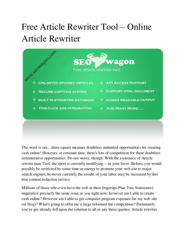 Article spinner online