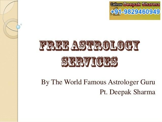 By The World Famous Astrologer Guru Pt. Deepak Sharma