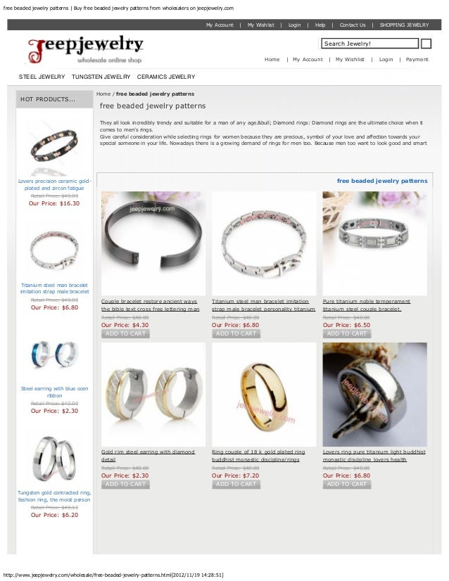 free beaded jewelry patterns | Buy free beaded jewelry patterns from wholesalers on jeepjewelry.com                       ...