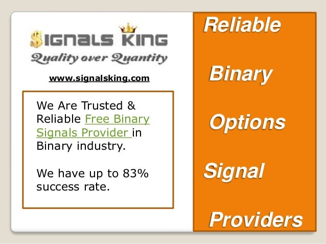 Binary options signals providers