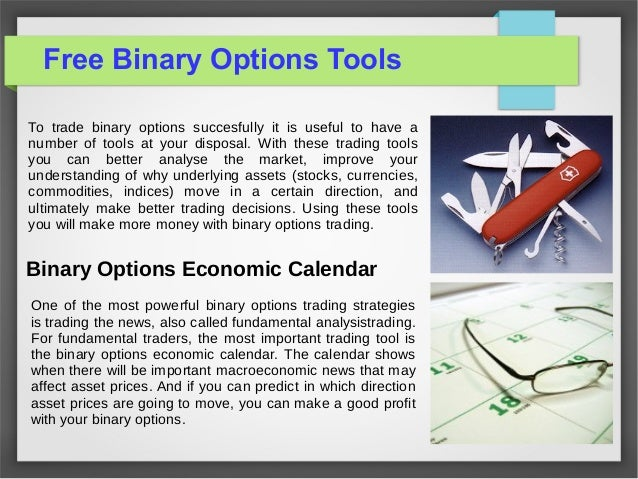 Free binary option tools