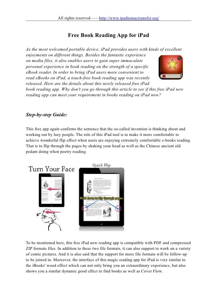 All rights reserved——http://www.ipadtomactransfer.org/                        Free Book Reading App for iPadAs the most we...