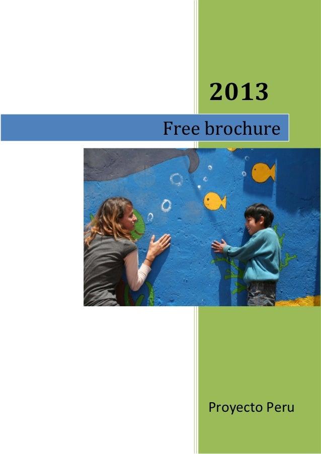 2013Free brochure     Proyecto Peru