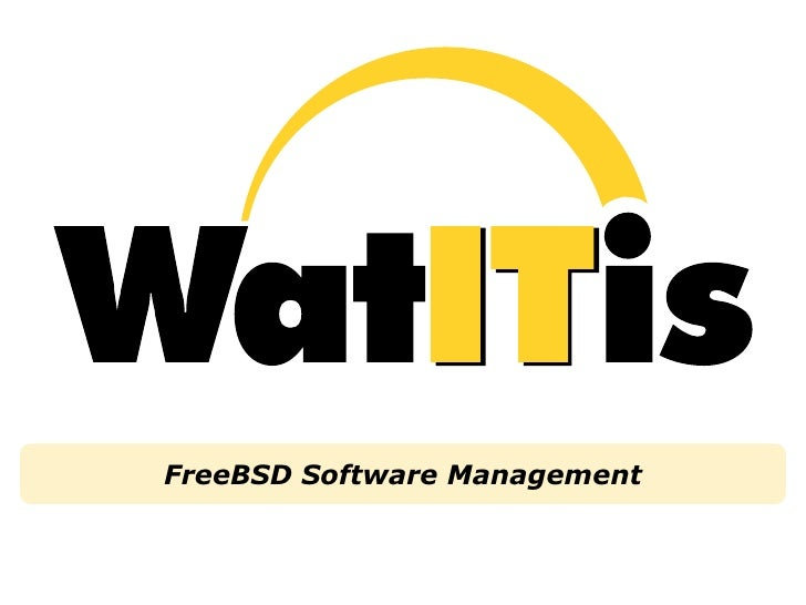 FreeBSD Software Management