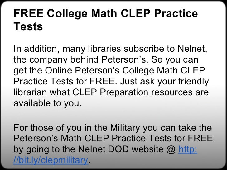 Military Benefits – CLEP – The College Board
