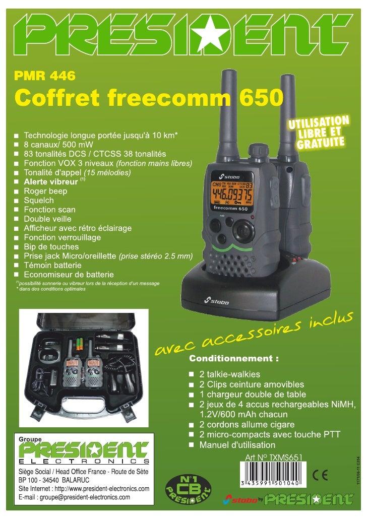 Freecomm 650 CB PRESIDENT autoprestige-autoradio