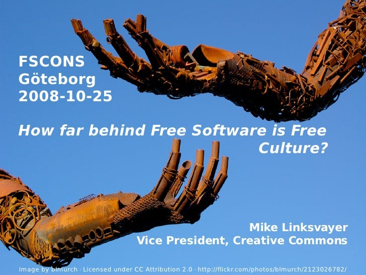 How far behind Free Software is Free Culture?