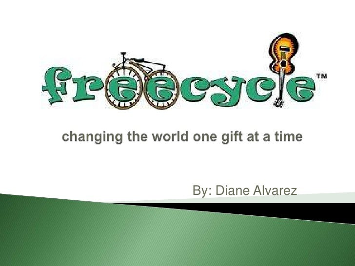 changing the world one gift at a time<br />By: Diane Alvarez<br />