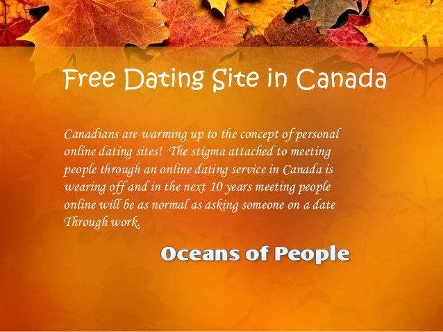 Dating site in canada free