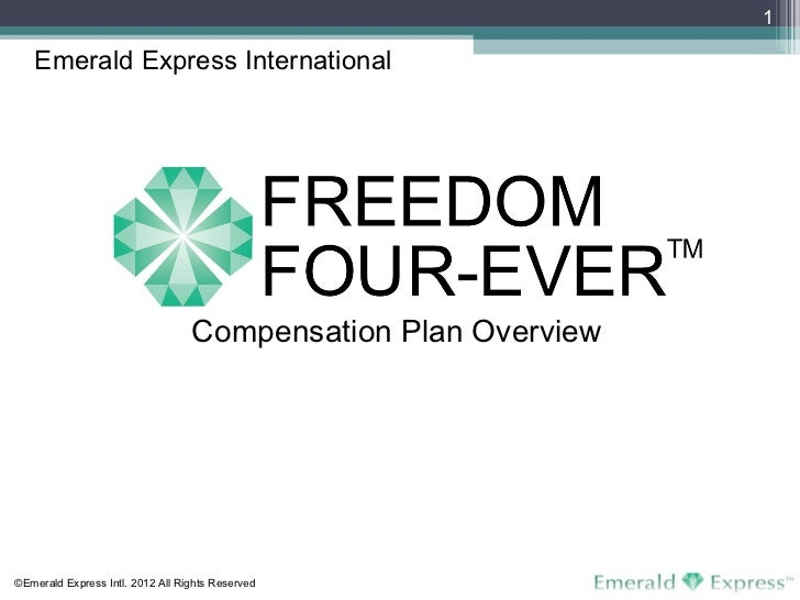 Compensation Plan Overview Emerald Express International ©Emerald Express Intl. 2012 All Rights Reserved