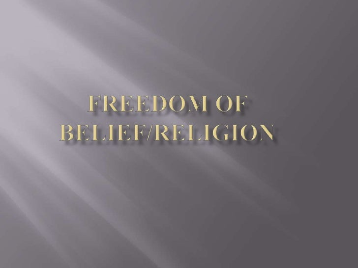    Freedom of religion is important because it is a big    part of happiness for most people.    If people don't have t...