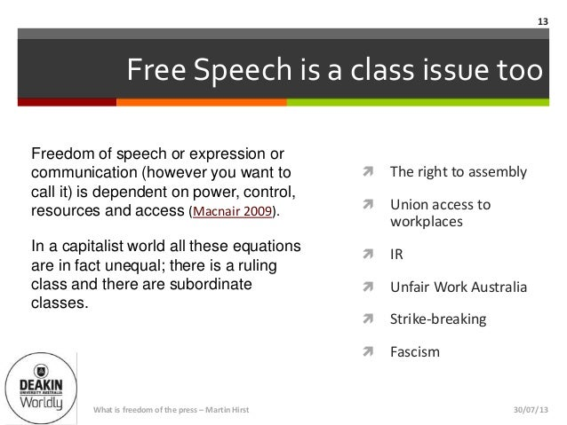 information about freedom of speech