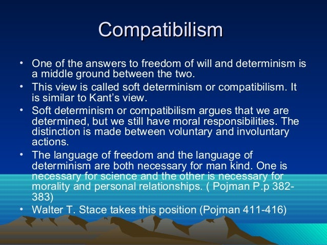 the conflict between free will and determinism Free-will and determinism: conflict and choice essay shakespeare develops the conflict between fate and man's the free-will determinism problem in greek.