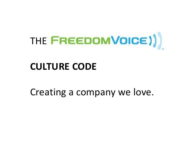 THECULTURE CODECreating a company we love.