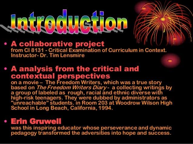 Freedom writers analysis essay