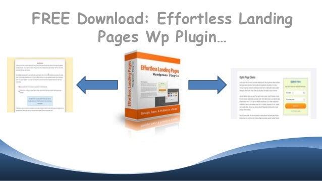 FREE Download: Effortless Landing Pages Wp Plugin…