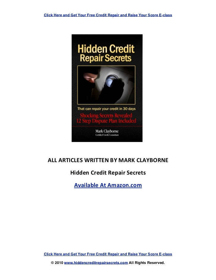 Click Here and Get Your Free Credit Repair and Raise Your Score E-class                 ...