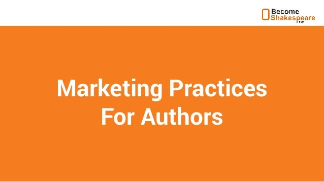 Marketing Practices for Authors