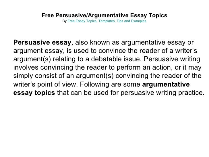 essay on debatable topics