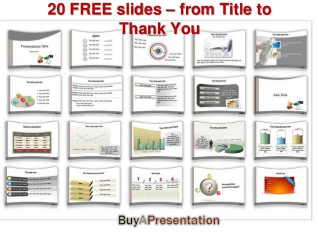 Free Presentation template  from buyapresentation