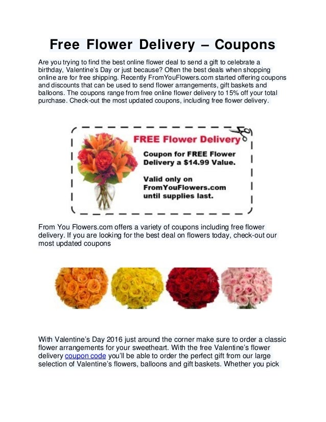 Flower delivery coupon code