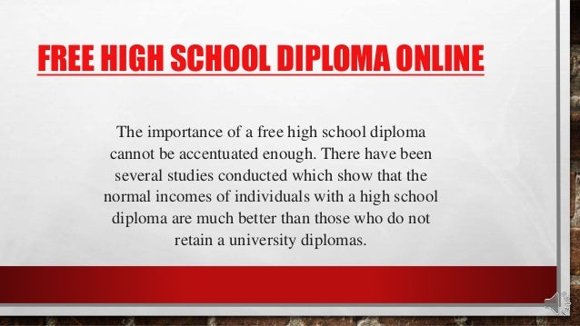 How can i get my H.S. diploma through online?