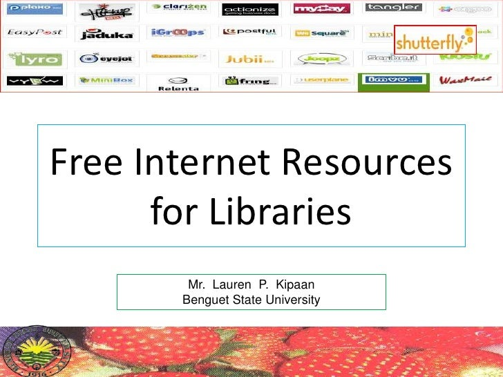Free Internet Resources For Libraries