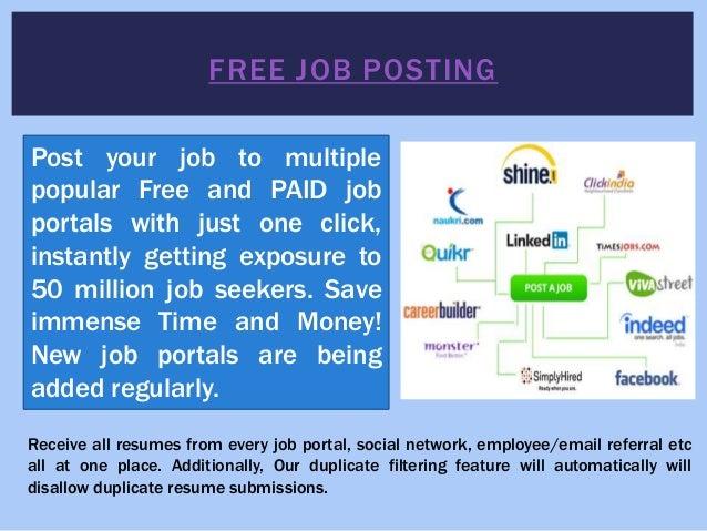 Free resume distribution to multiple job sites