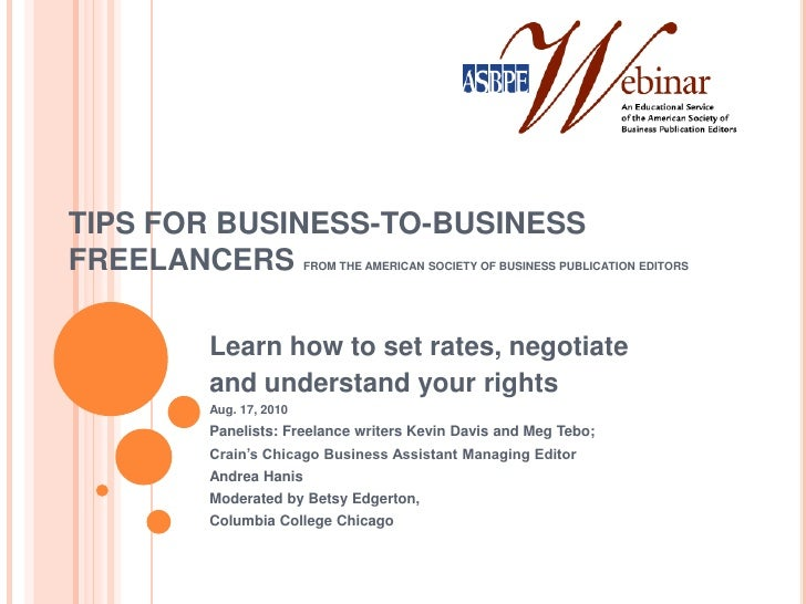 Tips for Business-to-Business Freelancers