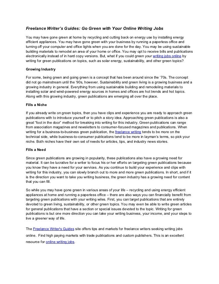 an essay about green jobs Citizens of the world especially the united states of america one of these strategies is to create a green economy focusing on the environmental.