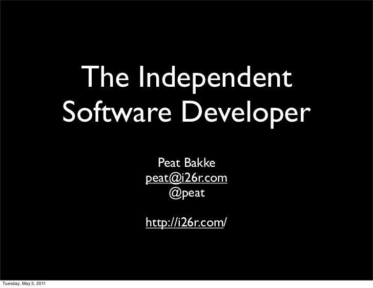 The Independent                       Software Developer                               Peat Bakke                         ...