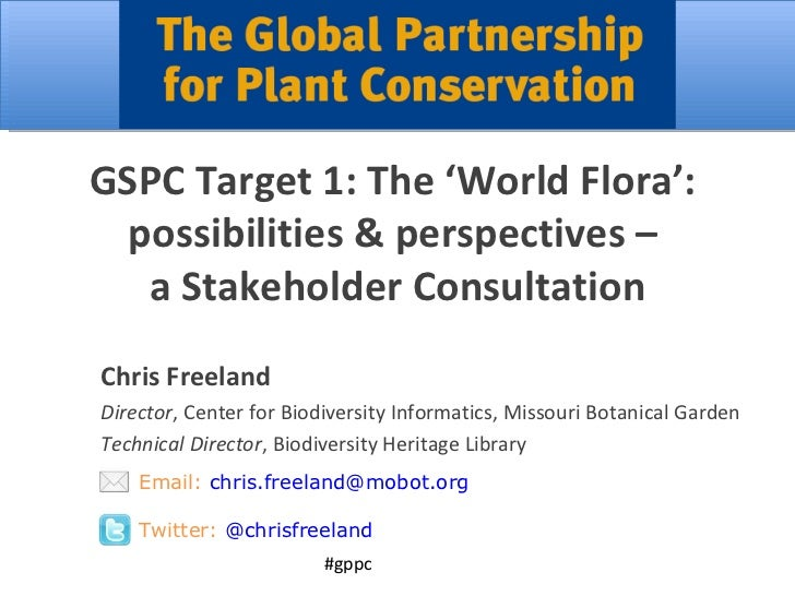 Global Strategy for Plant Conservation Target 1