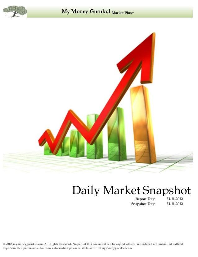 Market Snapshot-23/11/2012