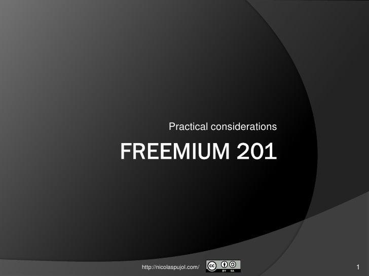 Freemium 201