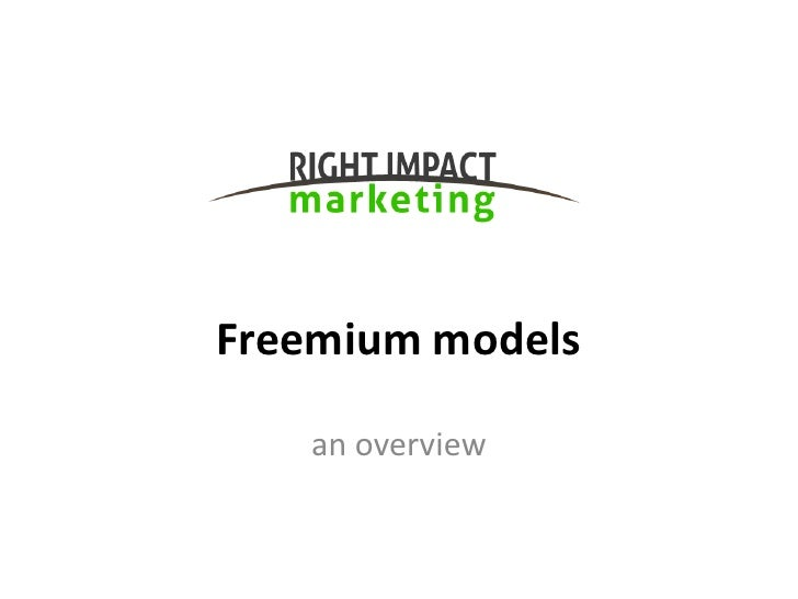 Freemium models   an overview