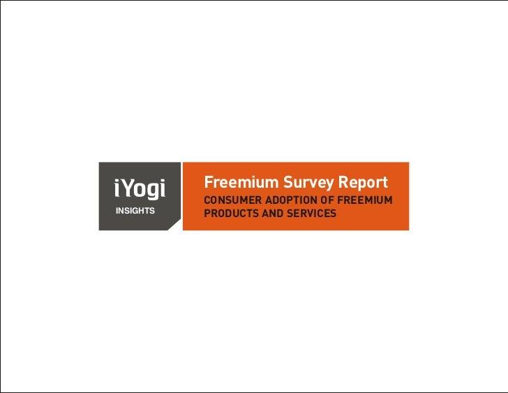 Consumer Adoption Of Freemium Products And Services - iYogi