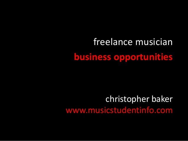 freelance musician business opportunities