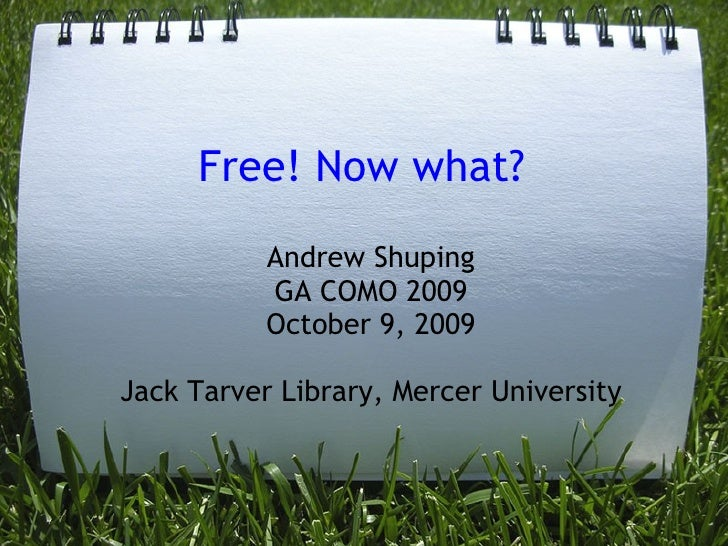 Free Now What