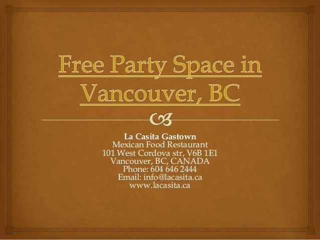 Free Party and Event Space in Vancouver BC