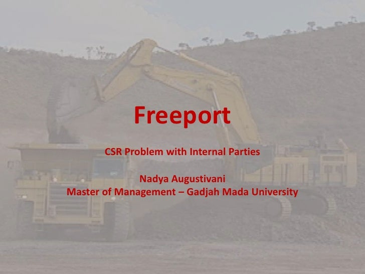 Freeport - CSR Problems