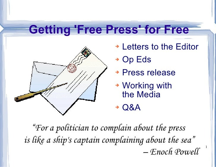 Getting 'Free Press' for Free