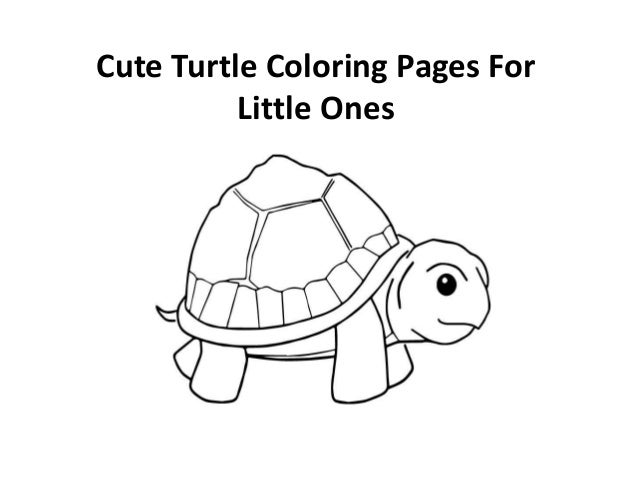 Free printable cute turtle coloring pages for kids for Cute turtle coloring pages