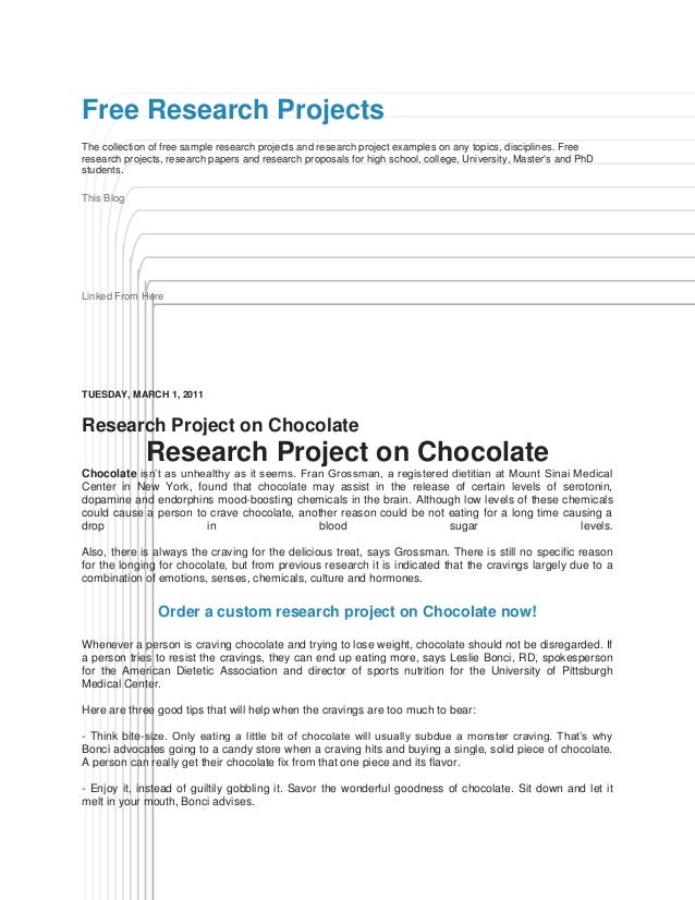 Good research project topics